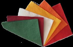 Цветные бумажные салфетки